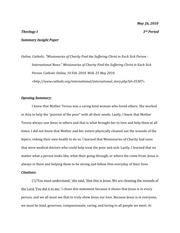 Missionary Extra Credit Essay