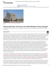 History Education_ The Source of Conflict Between China and Japan _ The Diplomat.pdf