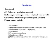 Tutorial One -Summary Answer(income tax law)