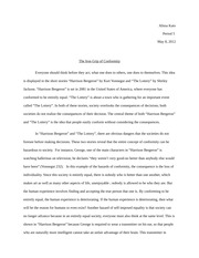 compare and contrast essay on harrison bergeron