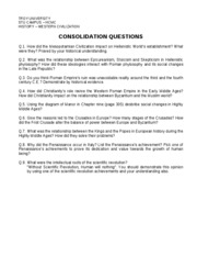TROY UNIVERSITY - CONSOLIDATION QUESTIONS FOR FINAL TEST