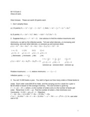 Exam 2 Version 2 Solution