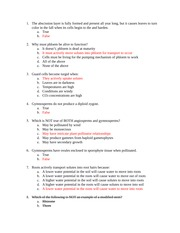Exam II sample questions answer key