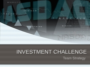 INVESTMENT CHALLENGE