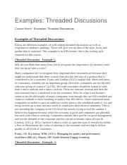 Examples-Threaded Discussions.docx