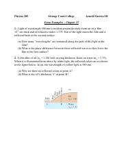 Extra Examples - Chapter 35 Zemansky revission 01.pdf