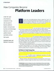 14. How companies become platform leaders