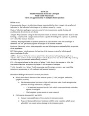HTW221 Final Exam Study Guide