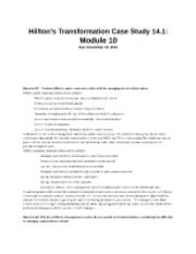 case study 14.1 hiltons transformation