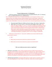 10 -  Prevention and Promotion (1)