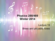 Brass and Playable Notes lecture