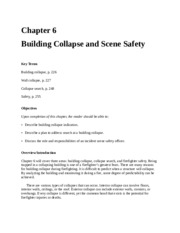 FFP 2810 Chapter 6 - Building Collapse & Scene Safety