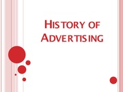 SOCIO2172 Lecture Slides History of Advertising