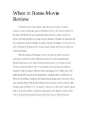 When in Rome Movie Review