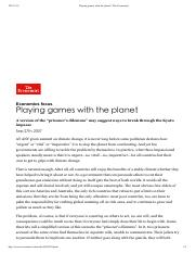 Playing games with the planet _ The Economist.pdf