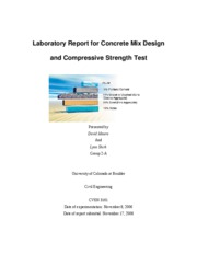 concrete lab report The first concrete to be created was the normal concrete, the second one was the air entrained concrete and the final one was the silica fume added concrete.