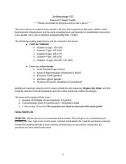Anthropology 103 Exam #2 Study Guide.docx