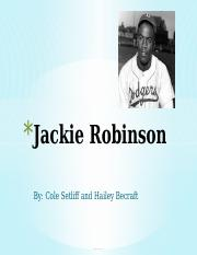 Jackie Robinson Hailey And Cole