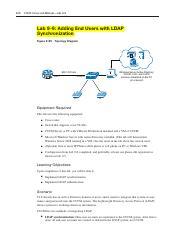 CUCM Lab 2 - 170 CCNA Voice Lab ManualLab 9-2 Lab 9-2 CUCM Services