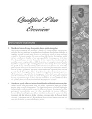 chapter 3 qualified plan overview