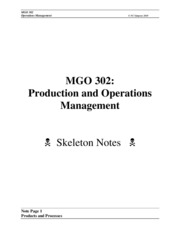 MGO 302 Skeleton Notes 1