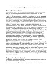 Valley Memorial Hospital - Chapter 16 - Assignment