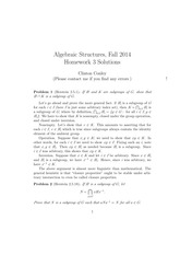 MATH 373 Fall 2014 Homework 3 Solutions
