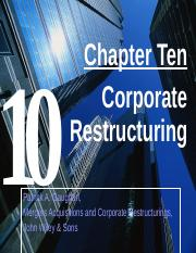 Ch 10 Corporate Restructuring