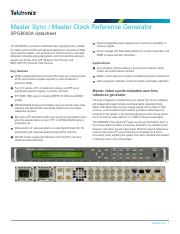 SPG8000A-Master-Sync-Master-Clock-Reference-Generator-Datasheet-20W602611