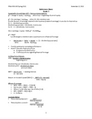 FINA 4300 Reference Sheet Exam 3 F2015