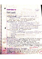 Chapter 6 notes; fat absorption, lipids,fatty acids