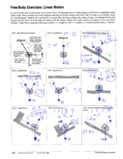 Free Body Exercises: Linear Motion  pg1 6th
