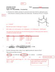 Exam3-Sampler from 2014- Solutions