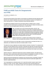 FASB and IASB Chairs Air Disagreements over IFRS-1