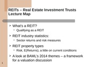 3-26 REITS - overview