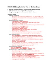 BWVW 102 Test 1 Study Guide _SPR 14_