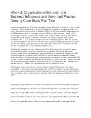 NR 510- Week 3-Organizational behavior and business influence for APN-Week 3.docx