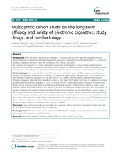Manzoli L (2013) Multicentri cohort study on the long-term efficacy and safety of e cigs study desig