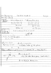 Vector Equations of Planes
