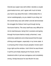 Essay on Zeitoun Progression