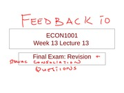 Feedback on ECON 1001_2010_Week 13_Revision