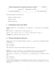 CPSC 500 Fall 2014 Lecture 3 Notes
