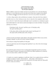 Intro to Game Theory Practice Questions 2