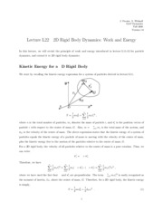 Rigid Body Dynamics notes