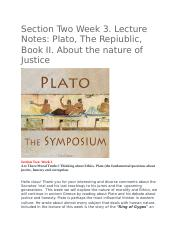 Plato, The Repiublic, Book II. About the nature of Justice