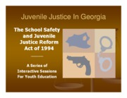 Juvenile Justice in Georgia