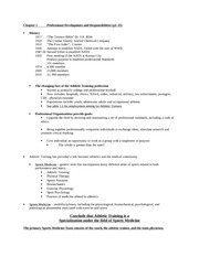 AT114 chapter 1: Professional Development and Responsibilities class notes