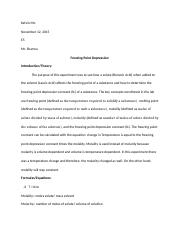 Freezing Point Depression Lab Report.docx