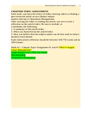 Operations Management_Week 1write a reflection on the article video