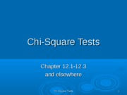 chi square tests ppt